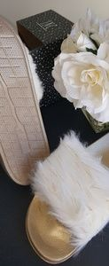 Choice of Ivory or Black INC Luxury Slippers XL